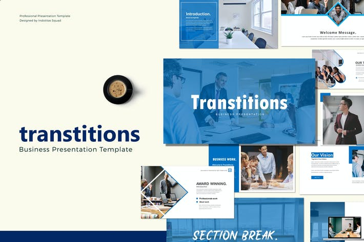 Thumbnail for TRANSTITIONS - Keynote Template