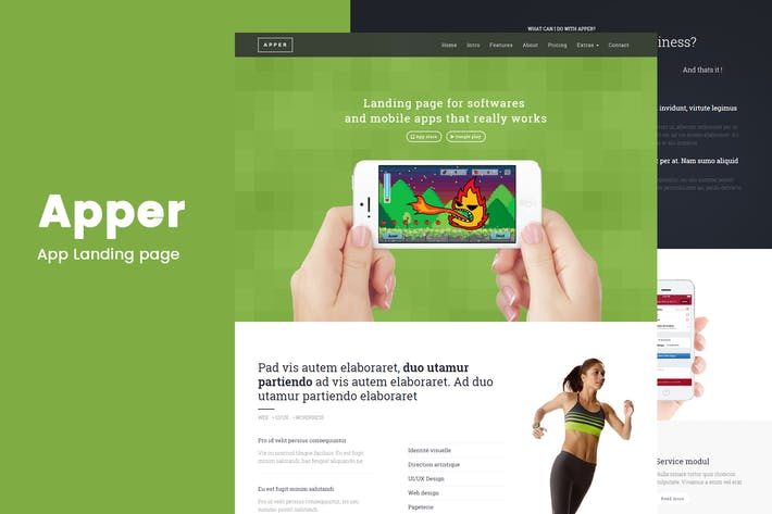 Thumbnail for Apper - Landing Page