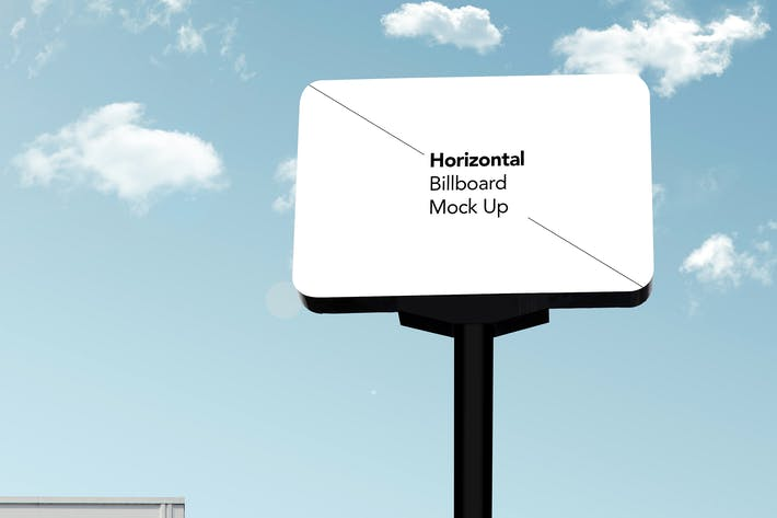 Thumbnail for Rounded Horizontal Billboard Mock Up