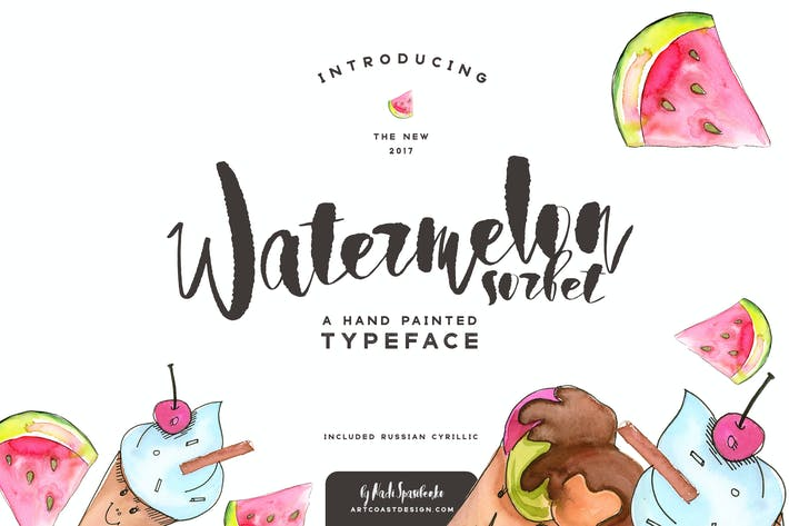 Thumbnail for Watermelon Sorbet Brush Script