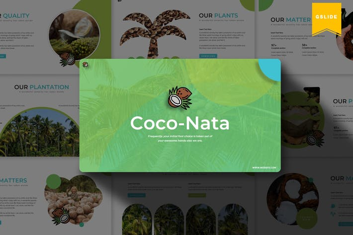 Thumbnail for Coco Nata | Google Slides Template