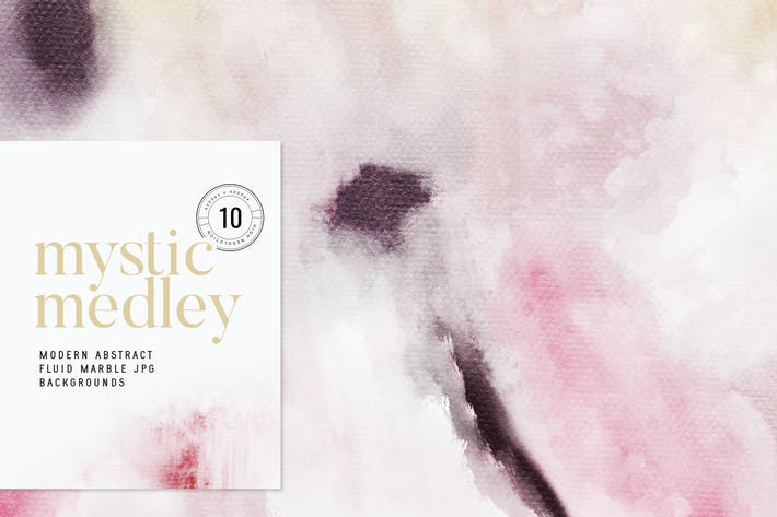 Thumbnail for Mystic Medley Abstract Painterly JPG Backgrounds