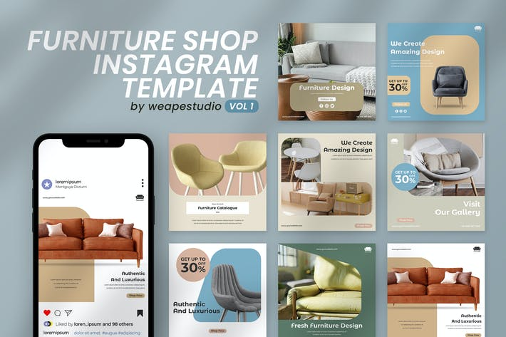 Thumbnail for Furniture Shop Instagram Template