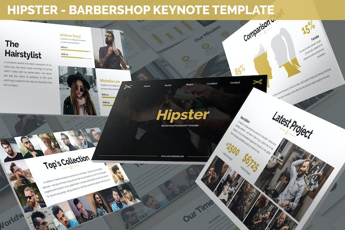 Thumbnail for Hipster - Barbershop Keynote Template