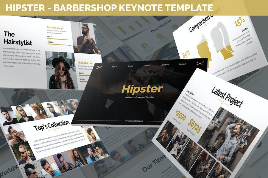 Hipster - Barbershop Keynote Template