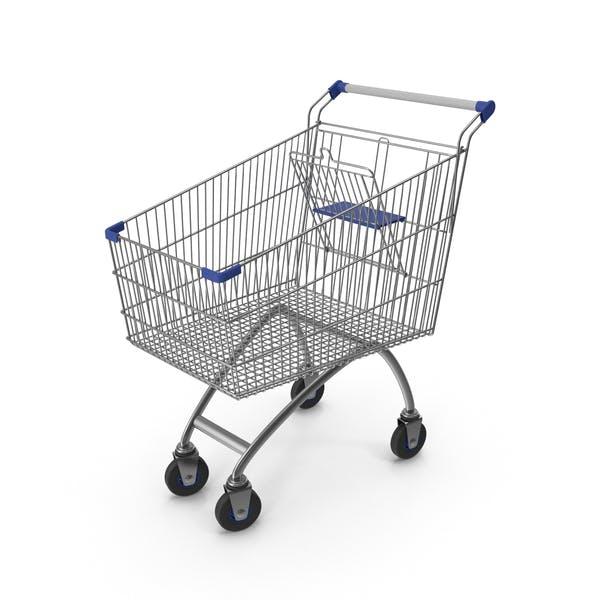 Supermarket Сart with Blue Plastic