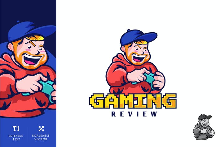 Thumbnail for Gaming Review Logo Illustration Vector