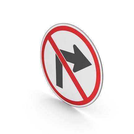 Verkehrszeichen Keine Rechtskurve