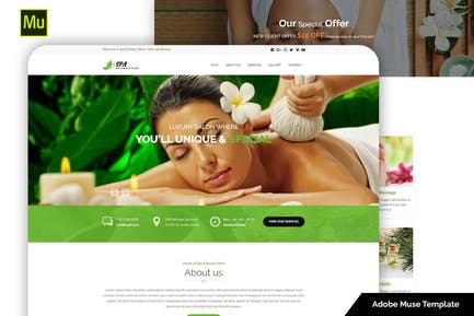 Spa and Beauty Adobe Muse Template