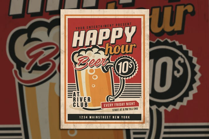 Thumbnail for Happy Hour Vintage Flyer