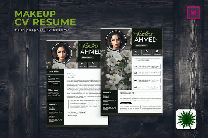 Thumbnail for MakeUp Artist CV Resume