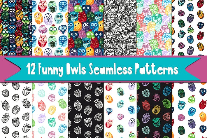 Thumbnail for Funny Owls Patterns