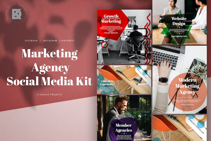 Thumbnail for Marketing Agency Social Media Pack