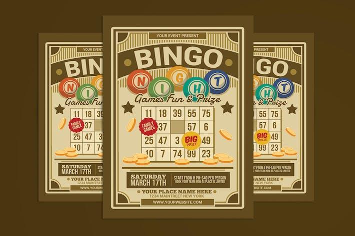 Thumbnail for dépliant pour les événements de nuit de Bingo