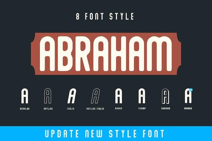 Thumbnail for Abraham Font Family