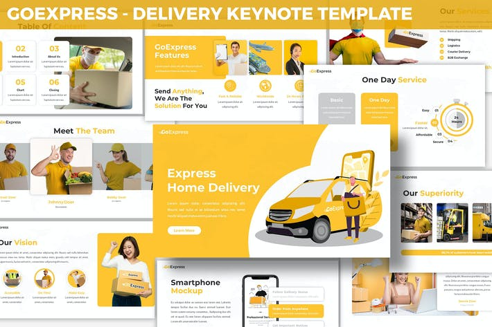 Cover Image For GoExpress - Delivery Keynote Template