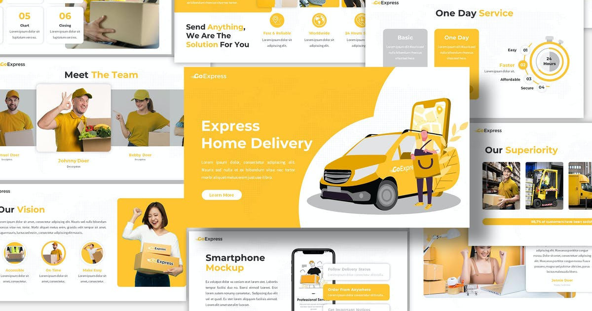 Download GoExpress - Delivery Keynote Template by SlideFactory