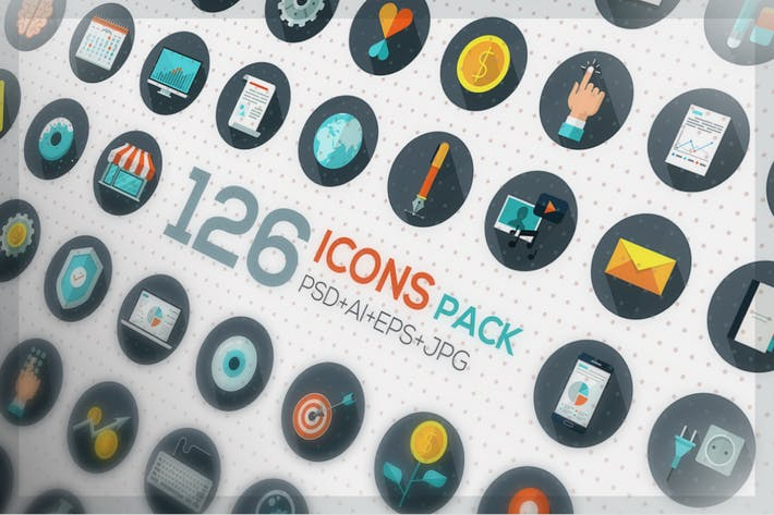 Thumbnail for 126 Flat Designed Icons
