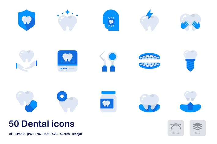 Thumbnail for Dental and Healthcare Accent Duo Tone Icons