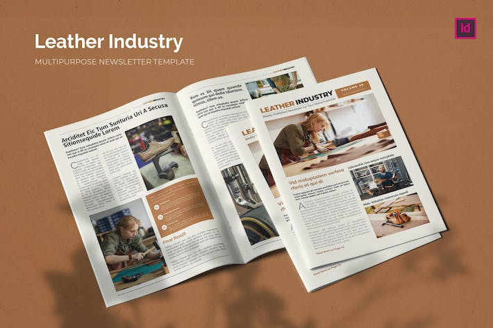 Thumbnail for Leather Industry - Newsletter Template