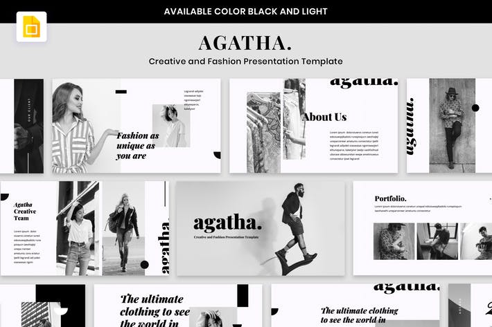 Thumbnail for AGATHA - Творческая презентация моды GoogleSlide