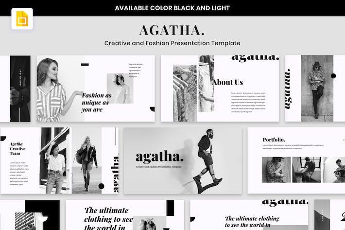 AGATHA - Creative Fashion Presentation GoogleSlide