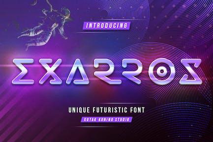 Exarros - Futuristic Techno Font