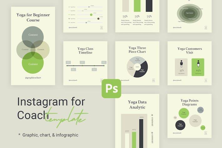 Thumbnail for Charts & Graphs Instagram Templates for Yoga V2