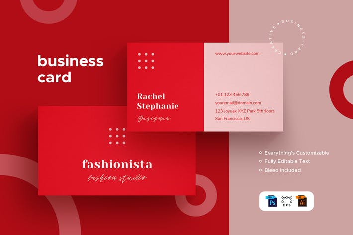 Thumbnail for Business Card - Stationery Kit - Fashionista