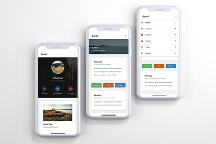 Boxed   Mobile Website Template