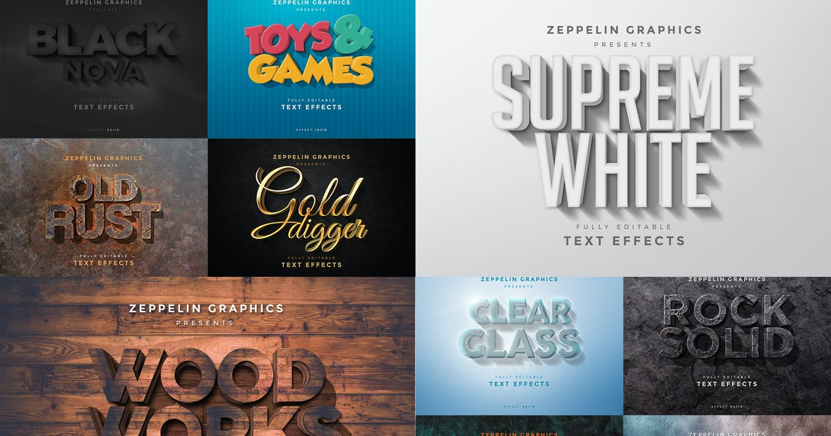 Download 3D Text Effects Vol.4 by Zeppelin_Graphics