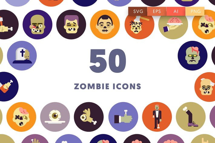 Thumbnail for Halloween Zombie Icons