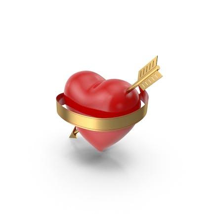 Сердце со стрелкой и Баннер