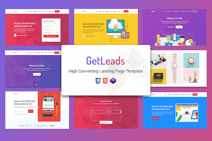 Thumbnail for GetLeads - Marketing HTML Landing Page Template