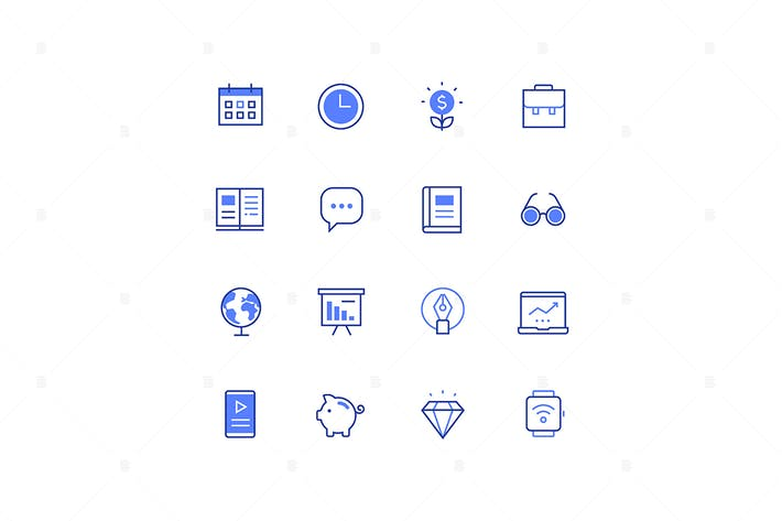 Thumbnail for Business and management - line design style icons