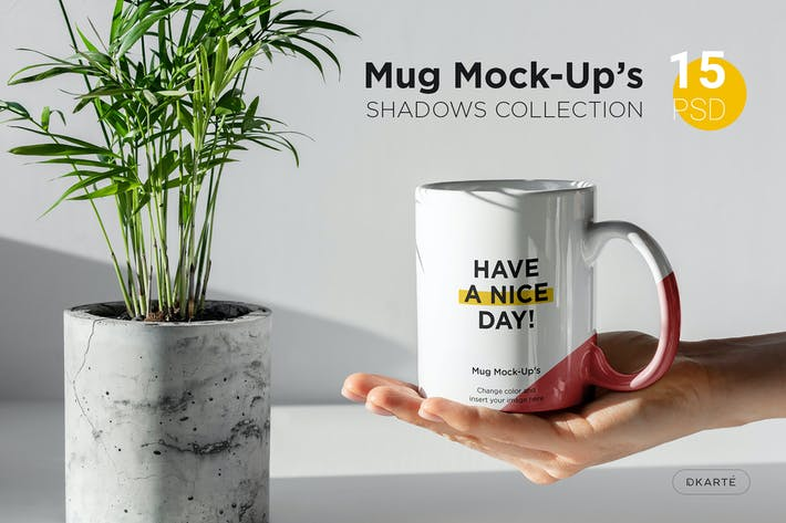 Cover Image For Mug Mock-Up's Shadows Collection