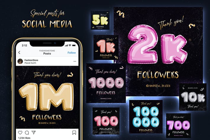 Thumbnail for Gracias — Social Media Posts