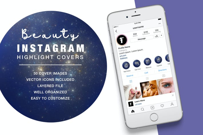 Thumbnail for Beauty Instagram Highlight Space