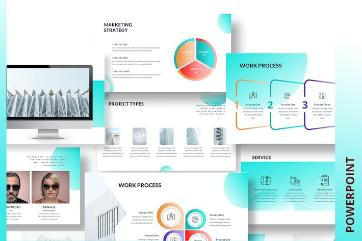 Thumbnail for Roofed PowerPoint Template