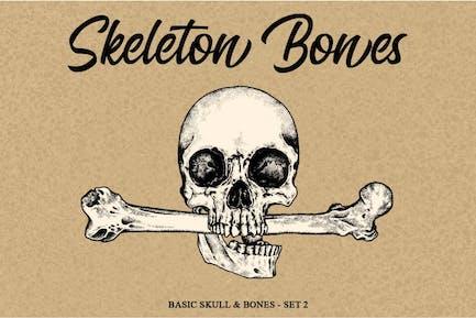 Skelett Handgehefter-Set 2