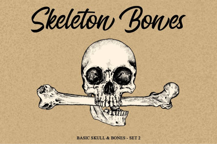 Thumbnail for Skeleton Handrawn set 2