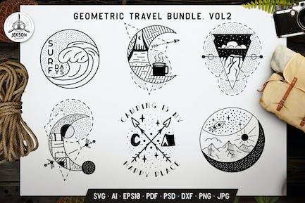 Camping Graphics. Adventure Line Art Badges