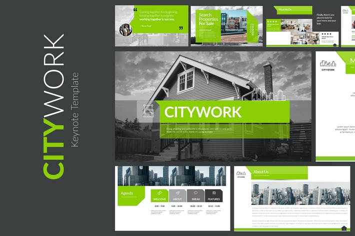 Thumbnail for CITYWORK Keynote Templates