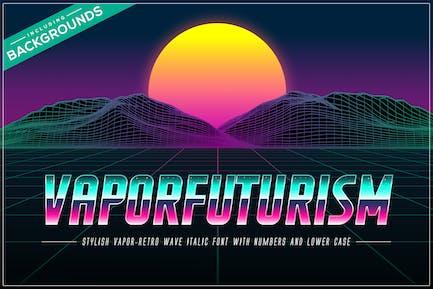 Vaporfuturism OTF Retrowave Font + Backgrounds