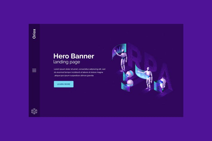 Thumbnail for Oriox - Hero Banner Landing Page Template
