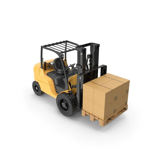 Thumbnail for Forklift With Boxes On Pallet