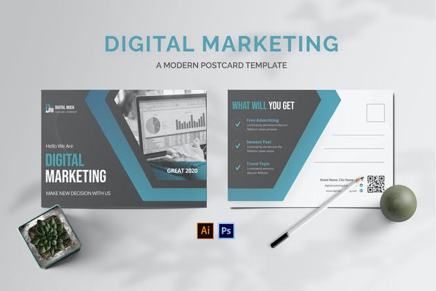 Digital Marketing Postcard