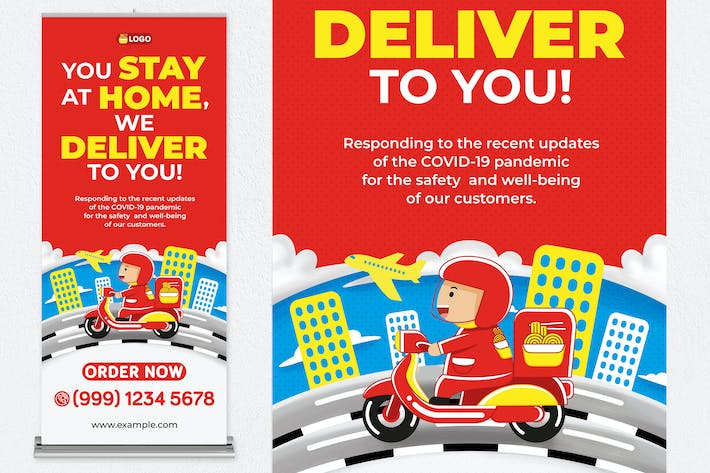 Thumbnail for Food Delivery Roll Up Banner