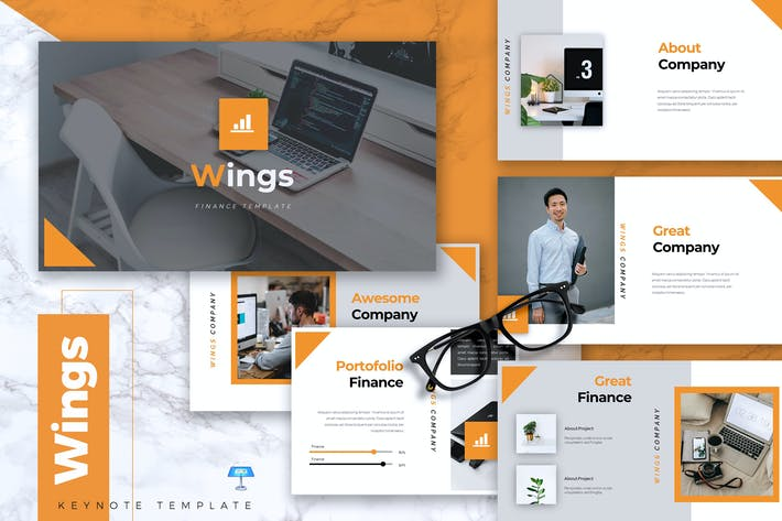 Thumbnail for WINGS - Finance Keynote Template