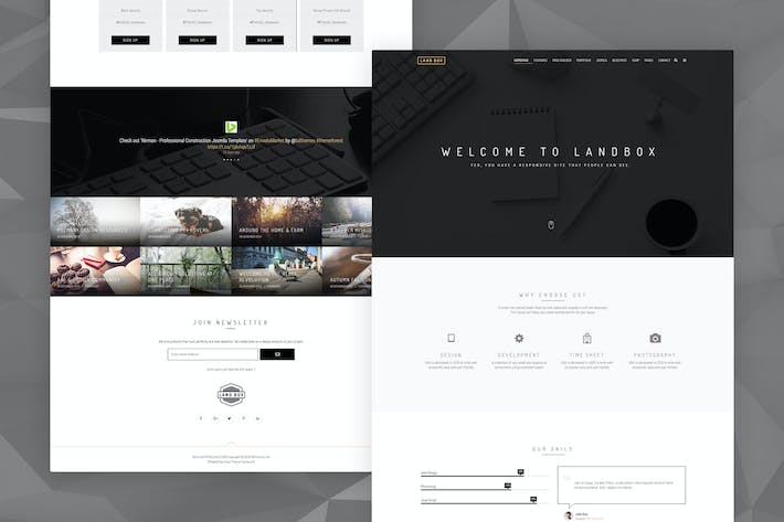 Thumbnail for Landbox - Multipurpose Joomla Template